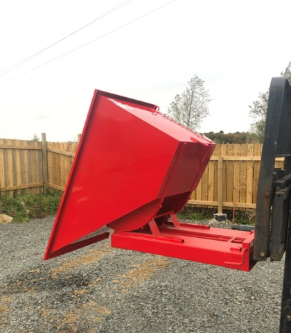 600Ltr Forward Tipping Forklift Skip